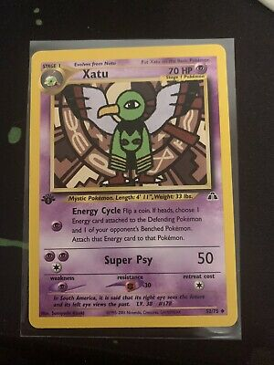 Pokemon Cards- 1st Edition Xatu , Neo Discovery
