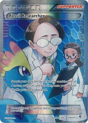 Fossil Researcher - 110/111 - Full Art Ultra Rare - Furious Fists - Pokemon LP