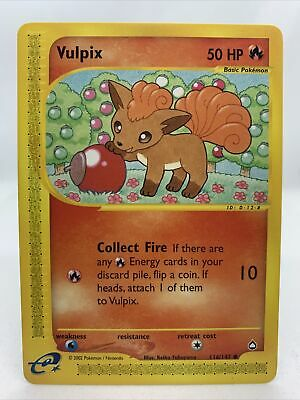 2002 Vulpix Rare Aquapolis Set Pokemon Card NM 116/147
