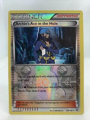 Archie's Ace In The Hole 2015 Pokemon Card Primal Clash Holo 124/160