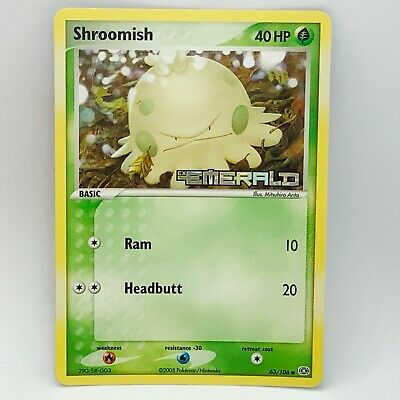 Shroomish 63/106 - Reverse Holo - EX Emerald Stamped - Pokemon Card - EXC