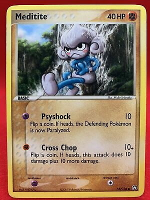 Meditite 2007 Ex Power Keepers Pokemon Card NM 55/108