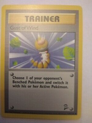 Pokemon Ccg Base Set 2 Set Common Card Trainer Gust Of Wind 120/130