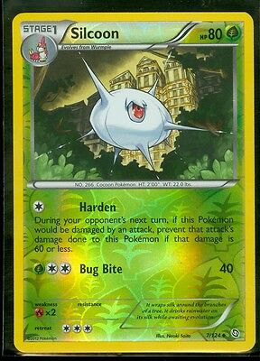 Pokemon SILCOON 7/124 Dragons Exalted Rev Holo MINT!