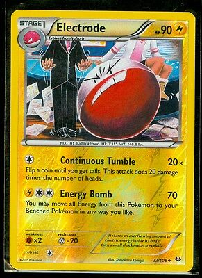 Pokemon ELECTRODE 22/108 - XY Roaring Skies - Rev Holo - MINT