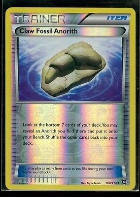 Pokemon CLAW FOSSIL ANORITH 100/114 - XY Steam Siege - Rev Holo - MINT