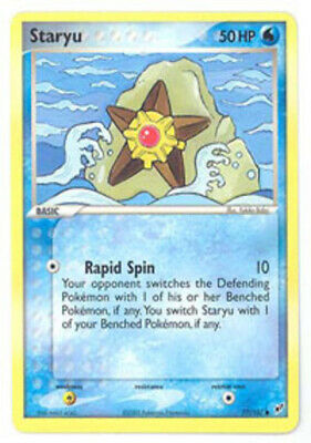 1x Staryu - 77/107 - Common - Reverse Holo Lightly Played Pokemon EX - Deoxys