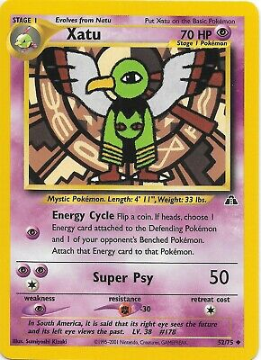 XATU  52/75  Neo Discovery Pokemon Card NM