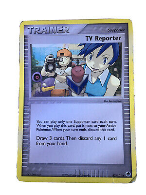 Pokemon Cards, TV Reporter - EX Dragon Frontiers, (Good Condition), No. 82/101