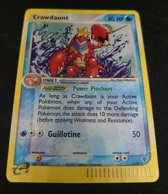 Pokemon Dragon Crawdaunt Holo Rare Good 3/97