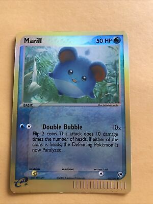 Marill 68/100 EX Sandstorm - Reverse Holo Pokemon Card - NM