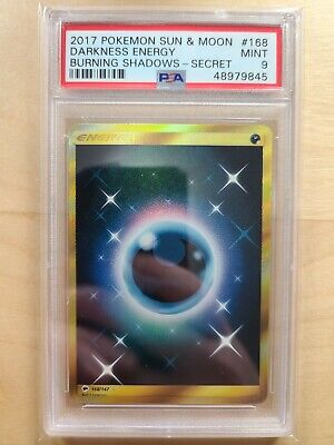 2017 Pokemon TCG Burning Shadows Darkness Energy 168/147 Secret Rare PSA 9 MINT