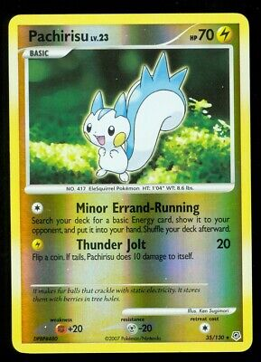 Pokemon PACHIRISU 35/130 Diamond & Pearl - RARE Rev Holo - NEAR MINT/MINT