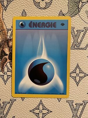 French - Water Energy - 1st Edition Base Set - Vintage Pokemon Card - NM/M