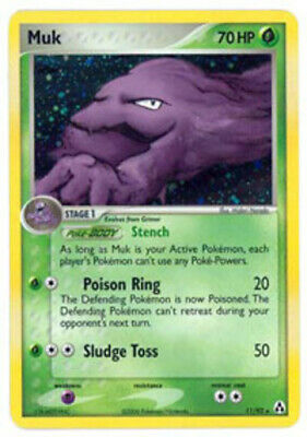 1x Muk - 11/92 - Holo Rare Heavily Played Pokemon EX - Legend Maker