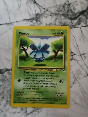 Pokemon Vintage Collectable Cards Neo Discovery 2001 Pineco 61/75 Common