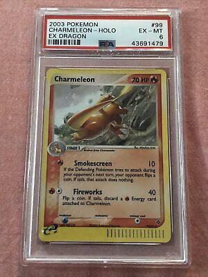 Pokemon 2003 Charmeleon 99/97 Secret Rare Ex Dragon MT PSA 6 Eye Appeal Regrade?
