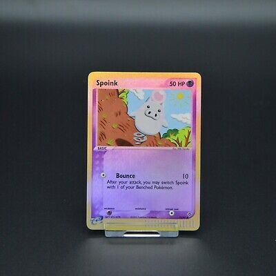 Pokemon Cards EX Dragon Spoink 73/97 Reverse Holo Near Mint Condition
