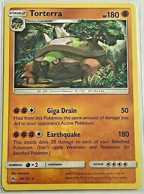 Pokemon Torterra Rare 58/131 Forbidden Light NM