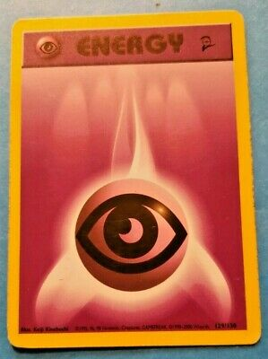 RARE Fire Energy Pokemon card 99 First edition 128/132. Gym Heroes   WOTC VG+