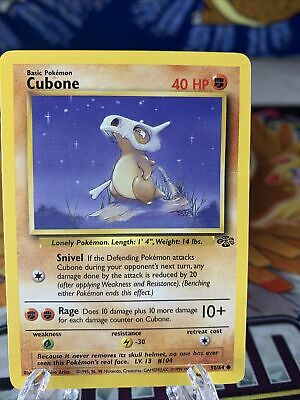 Cubone 50/64 Jungle Pokemon Card