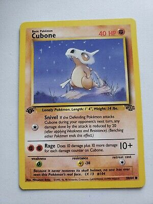 Cubone Jungle 1st Edition 50/64 | Pokemon Card NM/Never Played Condition