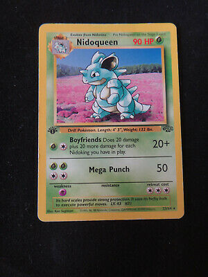 Pokemon Card: NIDOQUEEN #23/64 Jungle 1999 - 1st Edition Non-Holo Rare - LP