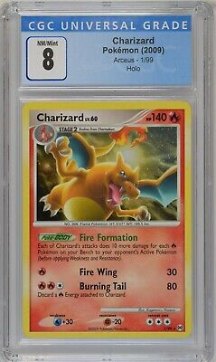 Pokemon 2009 Arceus Holo Rare 1/99 Charizard CGC 8 NM Mint PSA