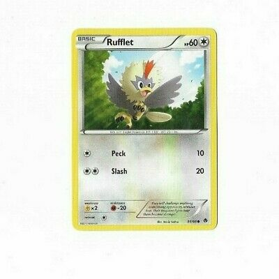 Pokemon Card Rufflet 86/98 Emerging Powers  Excellent To Near Mint