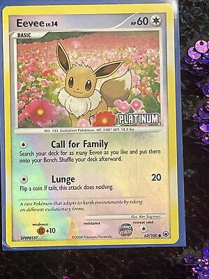 Eevee 62/100 Platinum Majestic Dawn Reverse Holo Foil Pokemon card