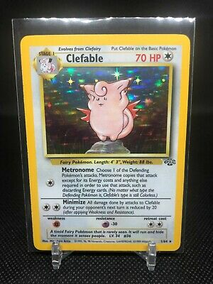 Pokemon Card Clefable 1/64 Jungle Set Rare Holo 1999 Vintage Hp