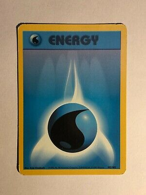 Pokemon Base set Unlimited Water Energy 102/102 Light played condition