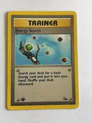 Pokemon 1st edition Fossil Energy search 59/62 Excellent condition