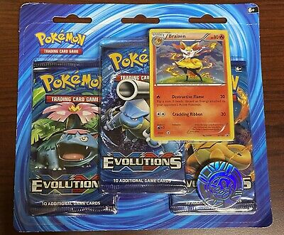 Pokemon TCG XY Evolutions Braixen Special Edition (3 Pack Blister)