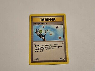 1st Edition Fossil Energy Search | 59/62 | NM | Unplayed | Pokemon