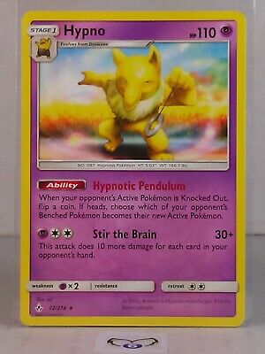 Hypno  72/214  Sun & Moon: Unbroken Bonds  Rare  Mint/NM  Pokemon