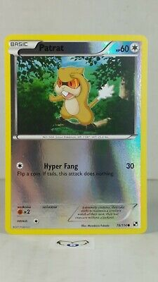 Patrat 78/114 Black & White: Base  Reverse Holo Mint/NM Pokemon
