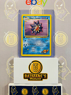 Misty's Starmie 56/132 1st Edition NM Gym Heroes Non-Holo Pokemon Card