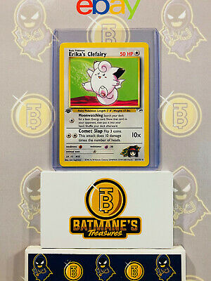 Erika's Clefairy 25/132 1st Edition NM Gym Heroes Non-Holo Rare Pokemon Card
