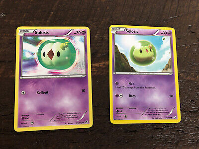 2 Pokemon Legendary Treasures Common Cards Non-Holo Solosis 73/113 and 74/113