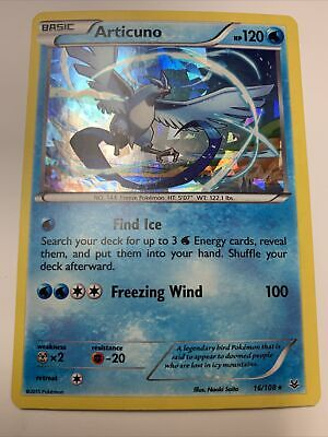 Pokemon Articuno Roaring Skies 16/108 Shattered Holo Cracked Promo NM