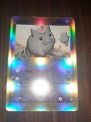 Pokemon: Spoink 74/97 - Reverse Holo Card - Ex Dragon Nm