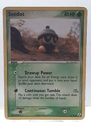 Seedot 61/92 Pokemon EX Legend Maker Grass Common Damaged Used See Pictures