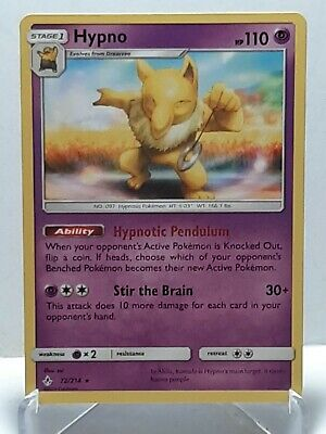Hypno 72/214 Pokemon Unbroken Bonds NonHolo Rare Psychic LP Used See Pictures