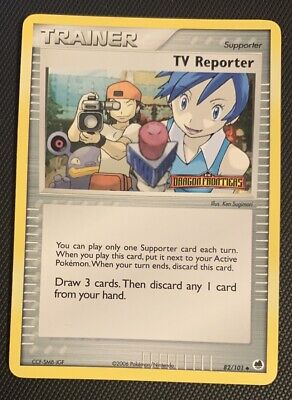NM/M TV Reporter 82/101 Reverse HOLO EX Dragon Frontiers Pokemon Card