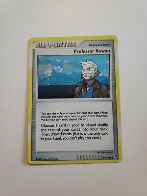 Pokemon TCG - Professor Rowan *Holo* - Diamond and pearl Theme Deck 112/130 *NM*