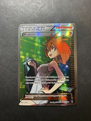 Pokemon Brigette Full Art Trainer 161/162 XY Breakthrough