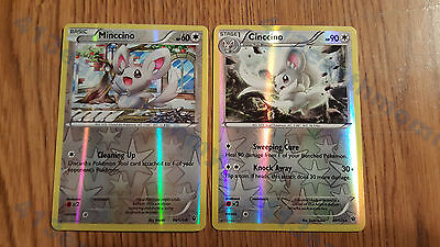 Pokemon XY Fates Collide Reverse Holo Evolution set