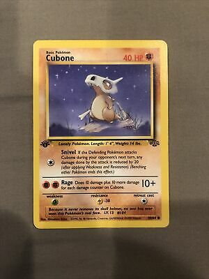 1999 Pokemon 1st Edition Jungle Cubone #50 Ungraded, Used
