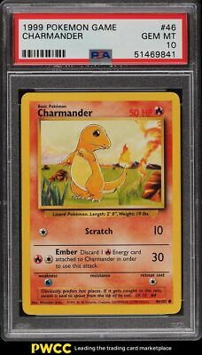 1999 Pokemon Base Set Charmander #46 PSA 10 GEM MINT